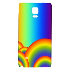 Background Rainbow Galaxy Note 4 Back Case