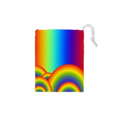Background Rainbow Drawstring Pouches (XS)