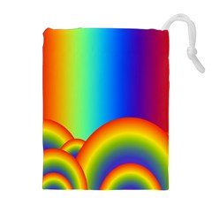 Background Rainbow Drawstring Pouches (extra Large)