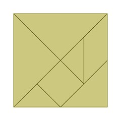 Fern Green in an English Country Garden Acrylic Tangram Puzzle (6  x 6 )