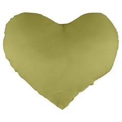 Fern Green in an English Country Garden Large 19  Premium Flano Heart Shape Cushions