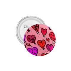Valentine Wallpaper Whimsical Cartoon Pink Love Heart Wallpaper Design 1 75  Buttons