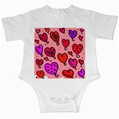 Valentine Wallpaper Whimsical Cartoon Pink Love Heart Wallpaper Design Infant Creepers