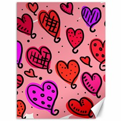 Valentine Wallpaper Whimsical Cartoon Pink Love Heart Wallpaper Design Canvas 36  X 48