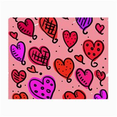 Valentine Wallpaper Whimsical Cartoon Pink Love Heart Wallpaper Design Small Glasses Cloth (2-Side)