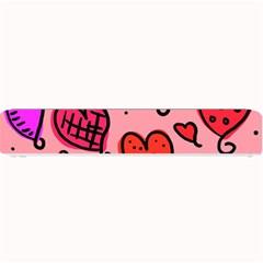 Valentine Wallpaper Whimsical Cartoon Pink Love Heart Wallpaper Design Small Bar Mats