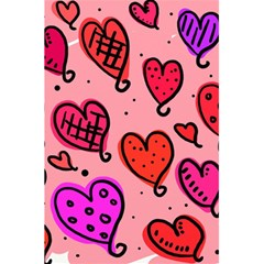 Valentine Wallpaper Whimsical Cartoon Pink Love Heart Wallpaper Design 5 5  X 8 5  Notebooks