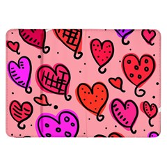 Valentine Wallpaper Whimsical Cartoon Pink Love Heart Wallpaper Design Samsung Galaxy Tab 8.9  P7300 Flip Case
