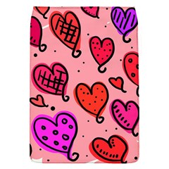 Valentine Wallpaper Whimsical Cartoon Pink Love Heart Wallpaper Design Flap Covers (s)