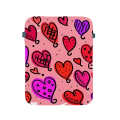 Valentine Wallpaper Whimsical Cartoon Pink Love Heart Wallpaper Design Apple Ipad 2/3/4 Protective Soft Cases