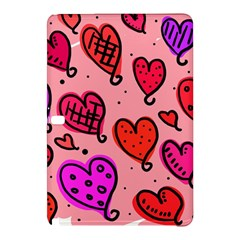 Valentine Wallpaper Whimsical Cartoon Pink Love Heart Wallpaper Design Samsung Galaxy Tab Pro 12.2 Hardshell Case