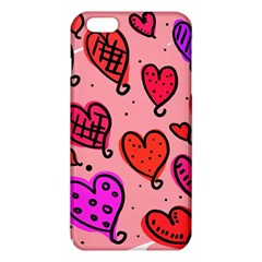 Valentine Wallpaper Whimsical Cartoon Pink Love Heart Wallpaper Design Iphone 6 Plus/6s Plus Tpu Case