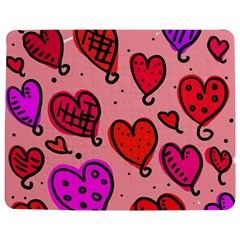 Valentine Wallpaper Whimsical Cartoon Pink Love Heart Wallpaper Design Jigsaw Puzzle Photo Stand (Rectangular)