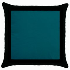 Forget Me Not Blue in an English Country Garden Throw Pillow Case (Black)