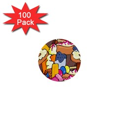 Sweet Stuff Digitally Food 1  Mini Buttons (100 pack)