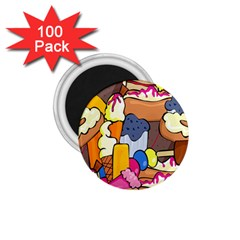Sweet Stuff Digitally Food 1 75  Magnets (100 Pack)