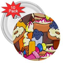 Sweet Stuff Digitally Food 3  Buttons (10 pack)