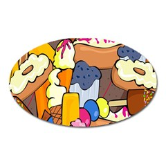 Sweet Stuff Digitally Food Oval Magnet
