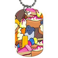 Sweet Stuff Digitally Food Dog Tag (one Side)
