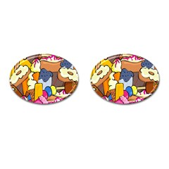 Sweet Stuff Digitally Food Cufflinks (Oval)