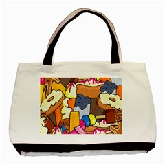 Sweet Stuff Digitally Food Basic Tote Bag