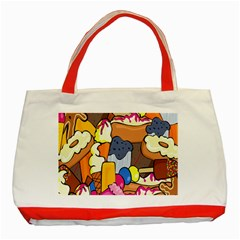 Sweet Stuff Digitally Food Classic Tote Bag (red)