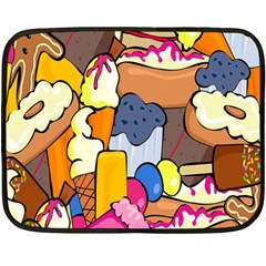 Sweet Stuff Digitally Food Double Sided Fleece Blanket (Mini)