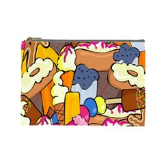 Sweet Stuff Digitally Food Cosmetic Bag (Large)