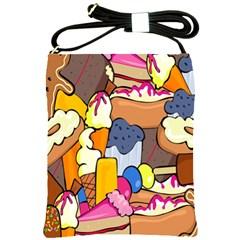 Sweet Stuff Digitally Food Shoulder Sling Bags