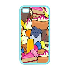 Sweet Stuff Digitally Food Apple Iphone 4 Case (color)