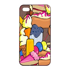 Sweet Stuff Digitally Food Apple Iphone 4/4s Seamless Case (black)