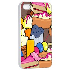 Sweet Stuff Digitally Food Apple iPhone 4/4s Seamless Case (White)