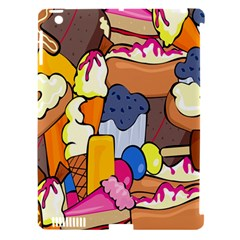 Sweet Stuff Digitally Food Apple Ipad 3/4 Hardshell Case (compatible With Smart Cover)