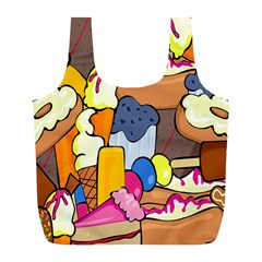 Sweet Stuff Digitally Food Full Print Recycle Bags (l)