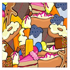 Sweet Stuff Digitally Food Large Satin Scarf (Square)