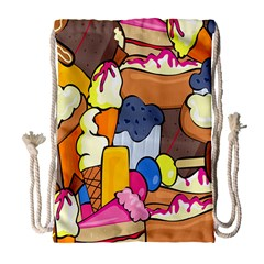 Sweet Stuff Digitally Food Drawstring Bag (Large)