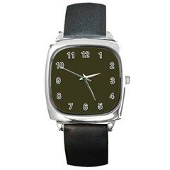 Garden Boot Green in an English Country Garden Square Metal Watch