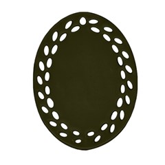 Garden Boot Green in an English Country Garden Oval Filigree Ornament (Two Sides)