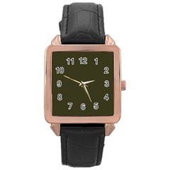 Garden Boot Green in an English Country Garden Rose Gold Leather Watch