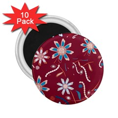 Floral Seamless Pattern Vector 2.25  Magnets (10 pack)