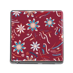 Floral Seamless Pattern Vector Memory Card Reader (square)