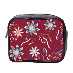 Floral Seamless Pattern Vector Mini Toiletries Bag 2-Side