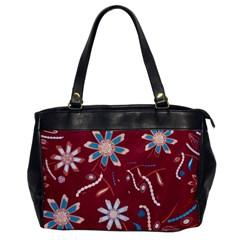 Floral Seamless Pattern Vector Office Handbags