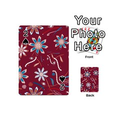Floral Seamless Pattern Vector Playing Cards 54 (mini)
