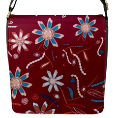 Floral Seamless Pattern Vector Flap Messenger Bag (S)
