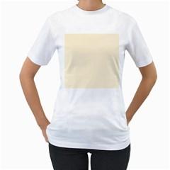 Gardenia Cream in an English Country Garden Women s T-Shirt (White) (Two Sided)