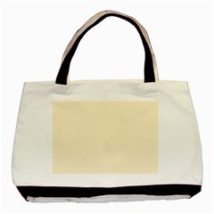 Gardenia Cream in an English Country Garden Basic Tote Bag (Two Sides)