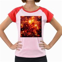 Summer Evening Women s Cap Sleeve T-Shirt