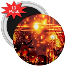 Summer Evening 3  Magnets (10 Pack)