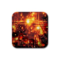 Summer Evening Rubber Square Coaster (4 pack)